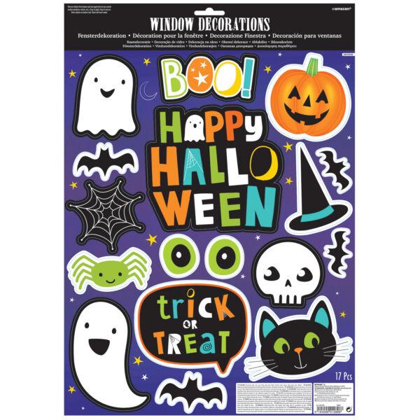 Cuki halloween mintás ablakdekoráció