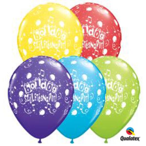 Boldog születésnapot héliumos lufi hangjegyes