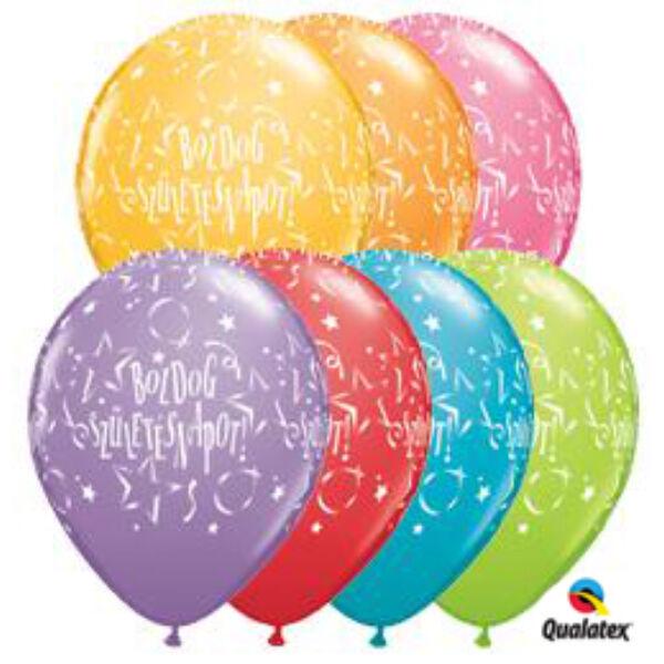 Boldog születésnapot héliumos lufi csillagos