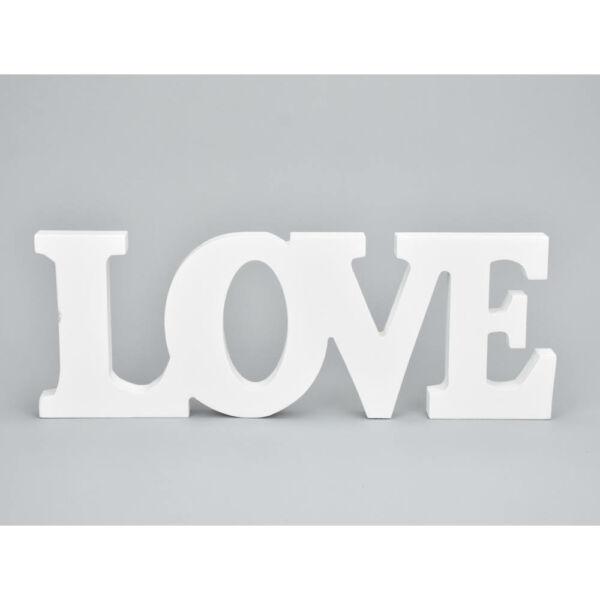 Fehér love fa felirat