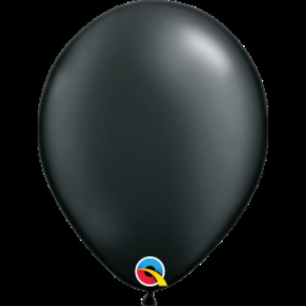 Fekete gyöngyházas lufi qualatex 28 cm