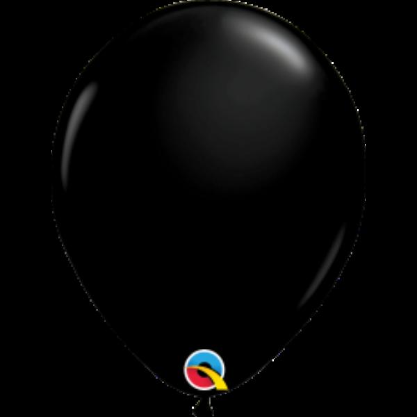 Fekete áttetsző héliumos lufi