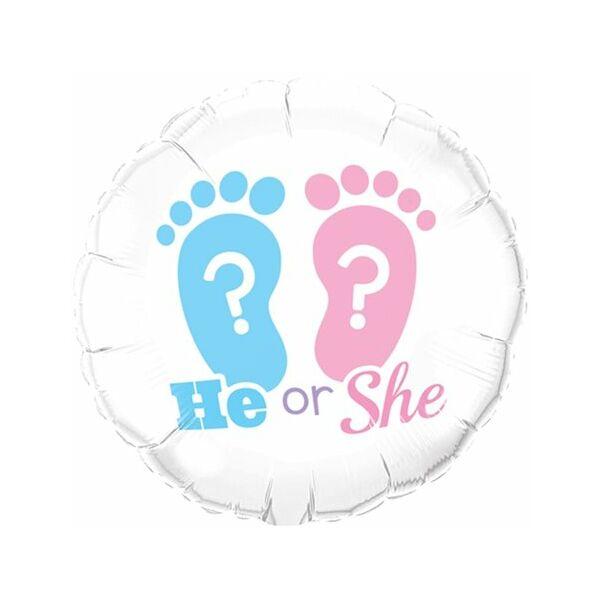 Fiú vagy lány héliumos lufi