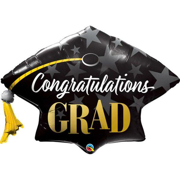 Gratulációs diplomaosztó kalap héliumos lufi
