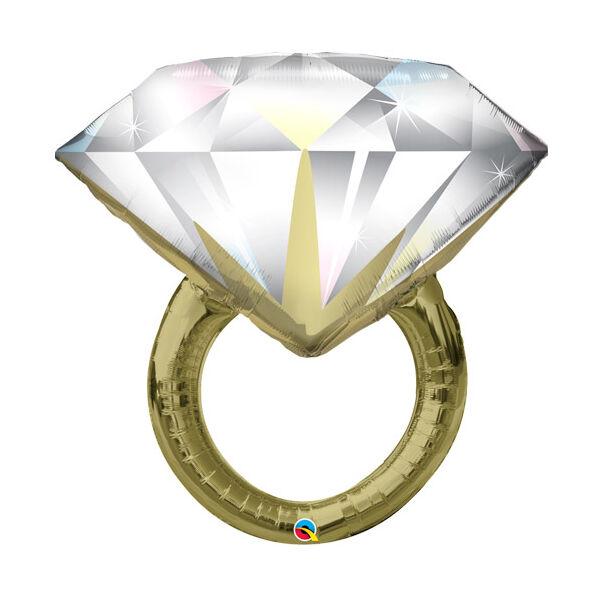 Gyémánt gyűrű héliumos lufi