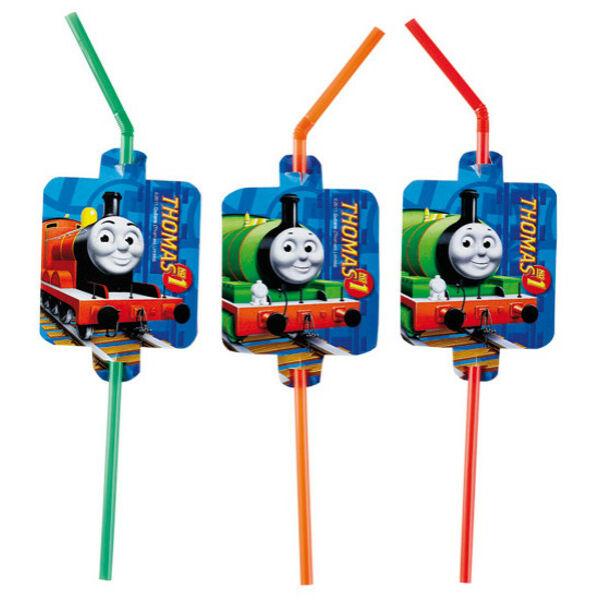Thomas és barátai szívószál 8 db