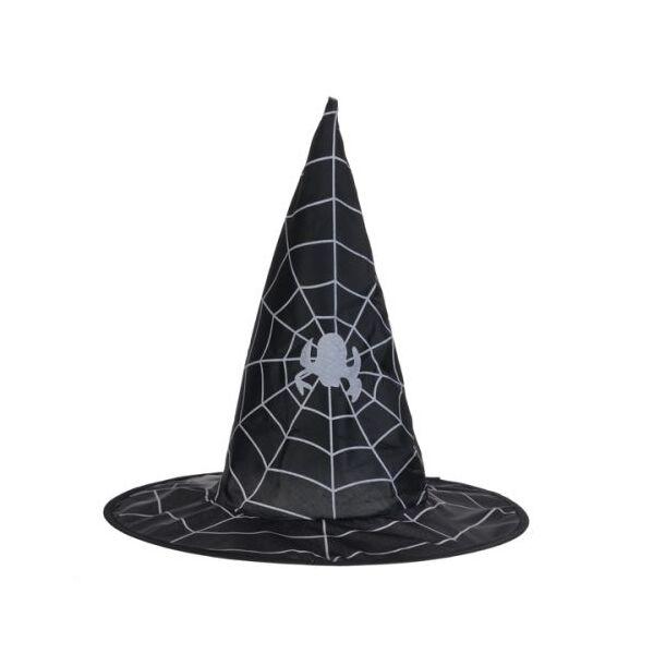 Fekete pókhálós boszorkány kalap