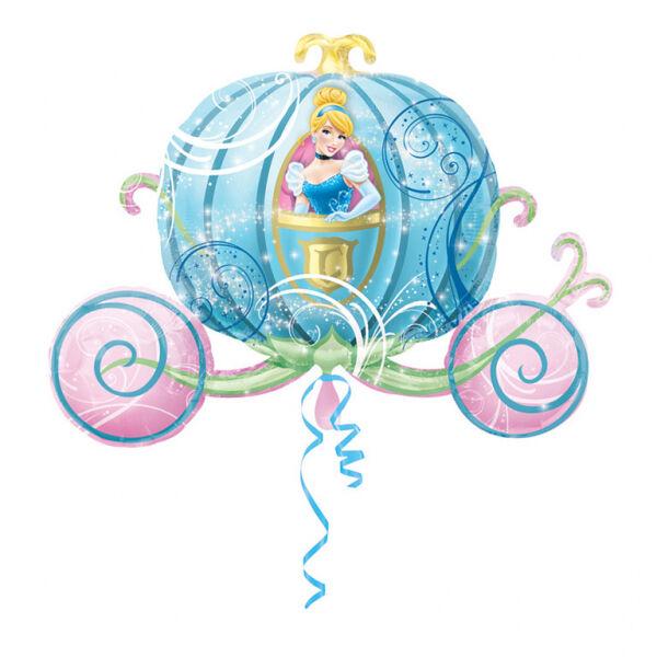 Hamupipőke kék hintóban héliumos lufi