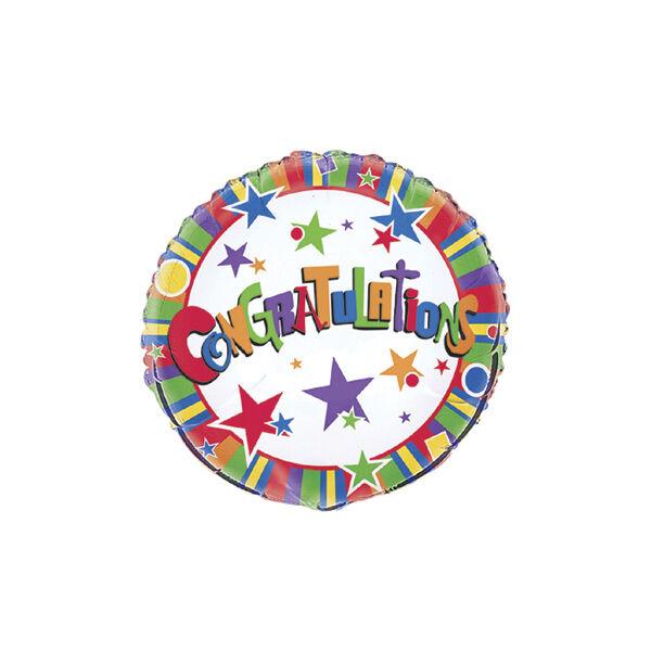Gratulációs héliumos lufi csillagos