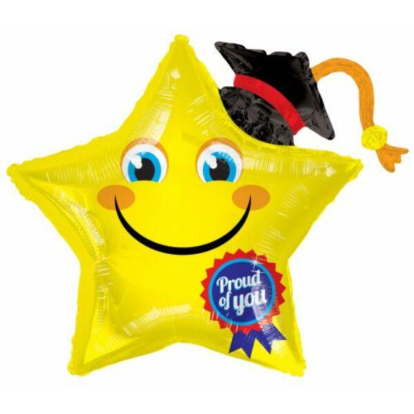 Ballagó csillag héliumos lufi 37.