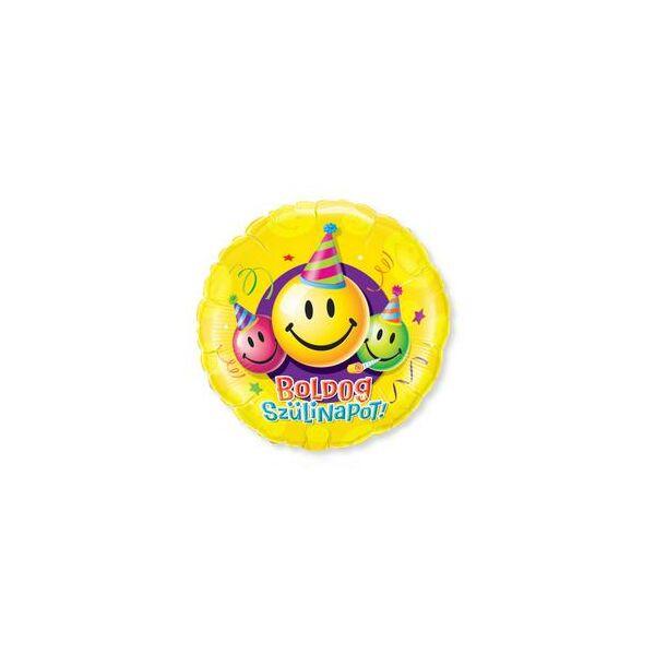 Boldog szülinapot smile héliumos lufi