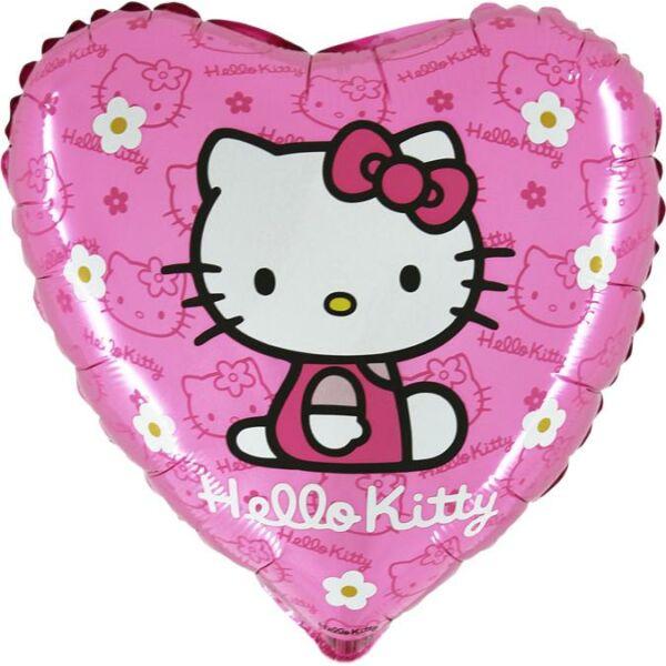 Rózsaszín-virágos hello kitty héliumos lufi