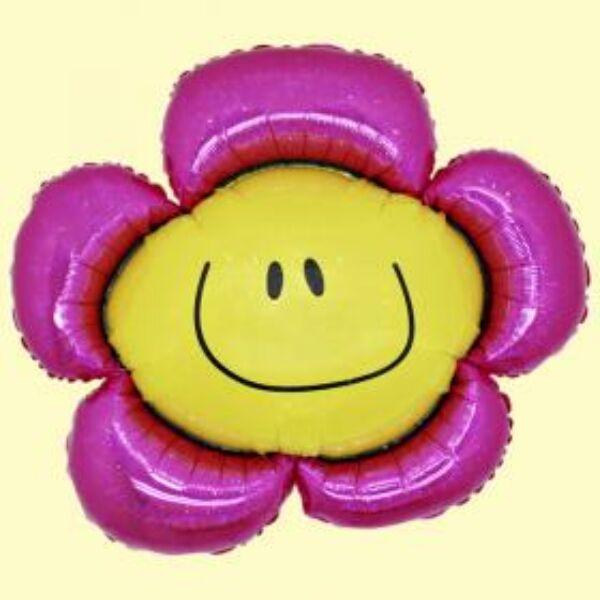 Pink smile virág héliumos lufi
