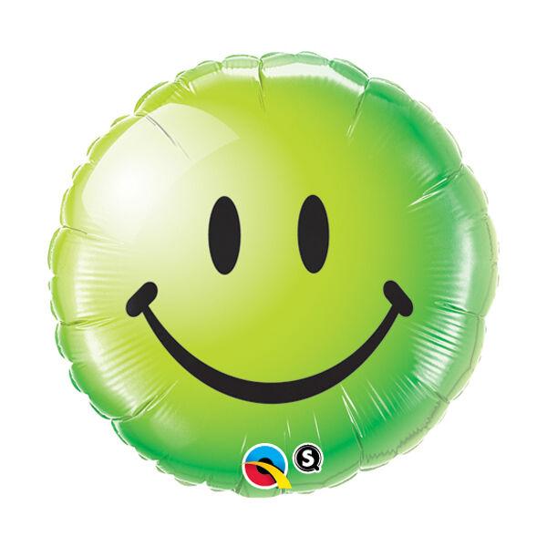 Zöld smile héliumos lufi