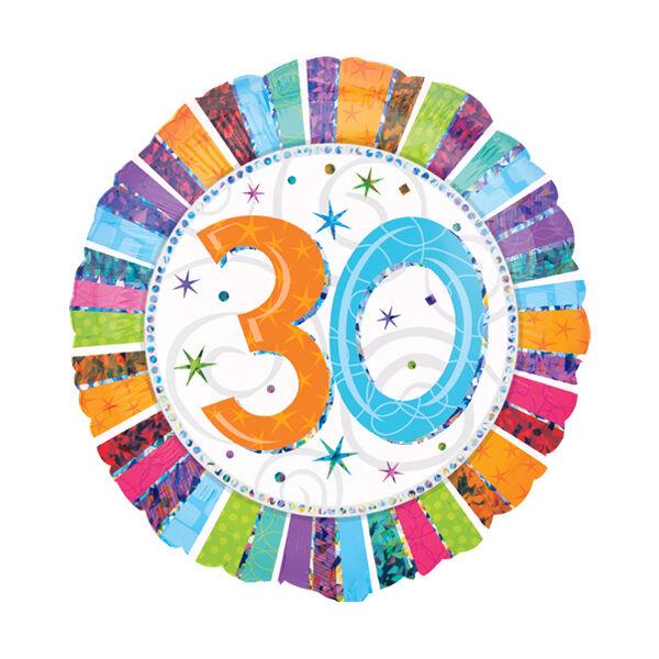 30 színes csillagos héliumos lufi