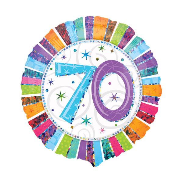 70 színes csillagos héliumos lufi