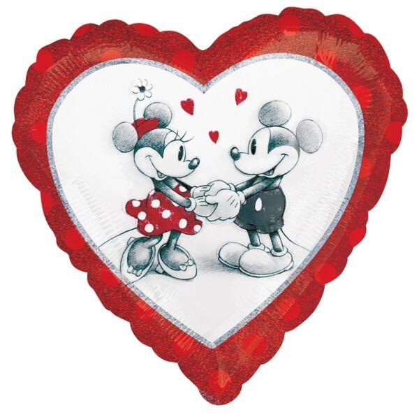 Mickey és Minnie szerelem héliumos lufi