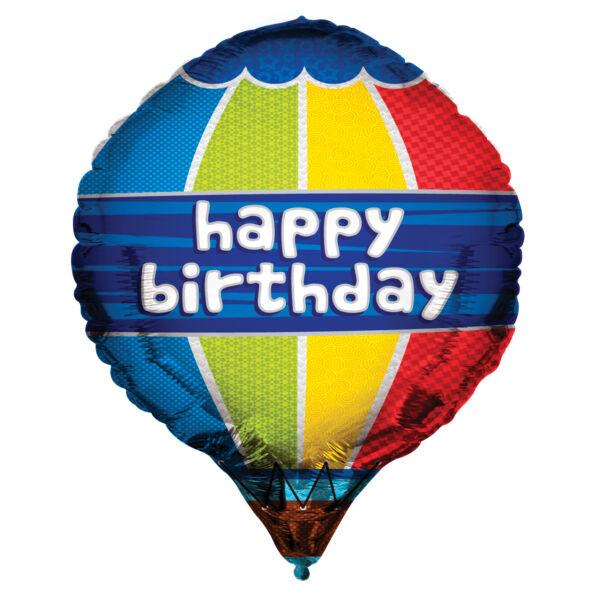 Hőlégballon szülinapi héliumos lufi