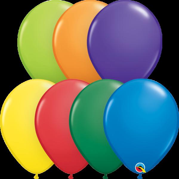 Karnevál színek lufi csomag 25 db