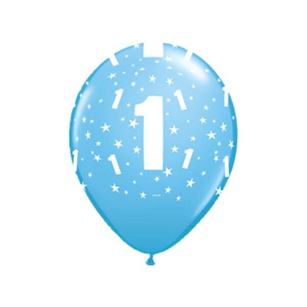 Kék első szülinapi héliumos lufi
