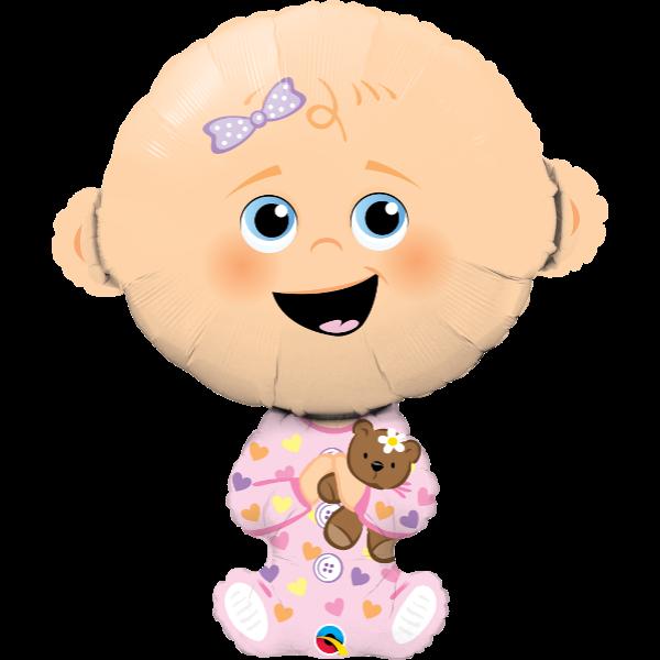 Kislány baba héliumos lufi