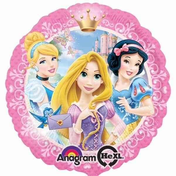 Koronás hercegnős héliumos lufi
