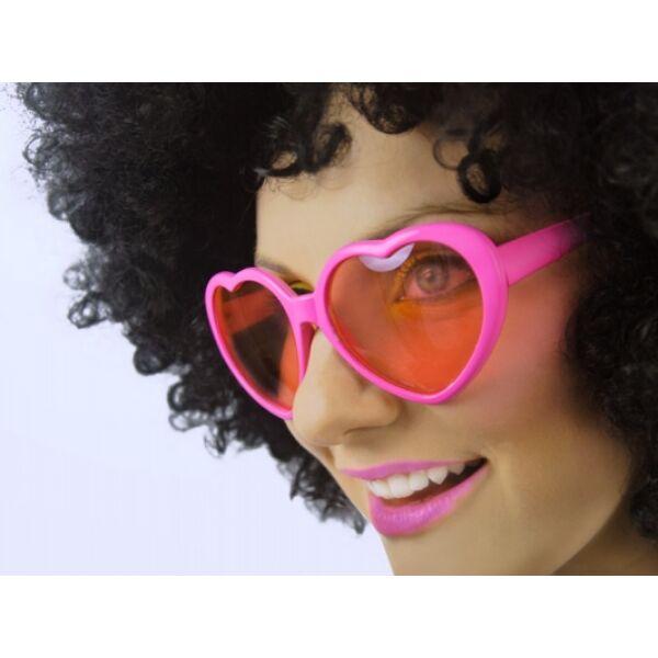 Rózsaszín szívszemüveg kicsi