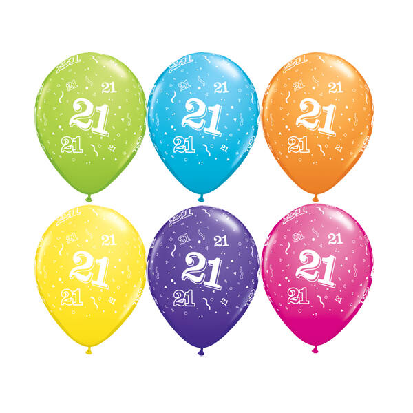 21. szülinapi héliumos lufi tropical