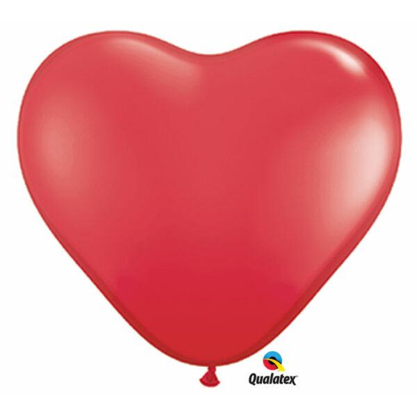 Piros szív lufi 15 cm