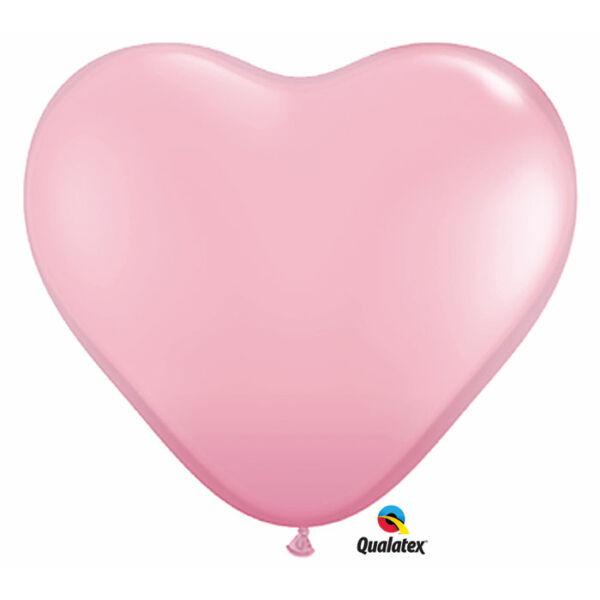 Rózsaszín szív lufi 15 cm