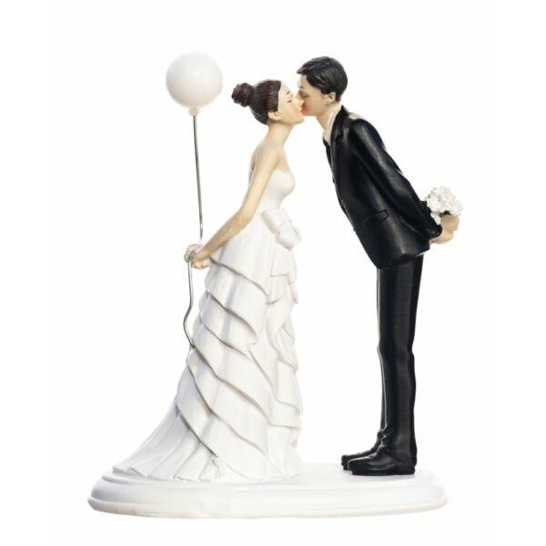 Lufis puszis esküvői tortadísz