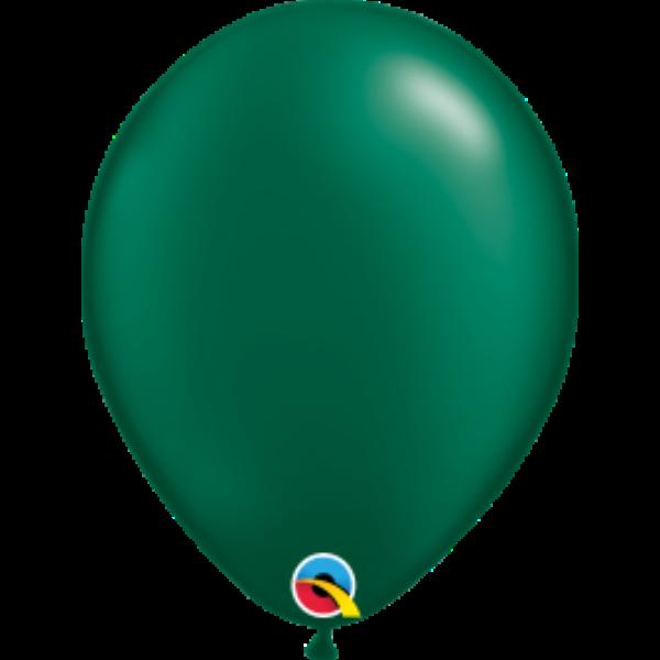 Mélyzöld gyöngyházas héliumos lufi