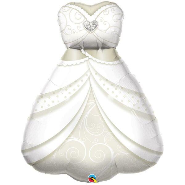 Menyasszonyi ruha esküvői héliumos lufi