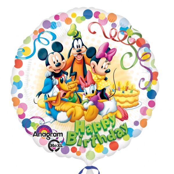 Mickey egér és barátai színes szülinapi héliumos lufi