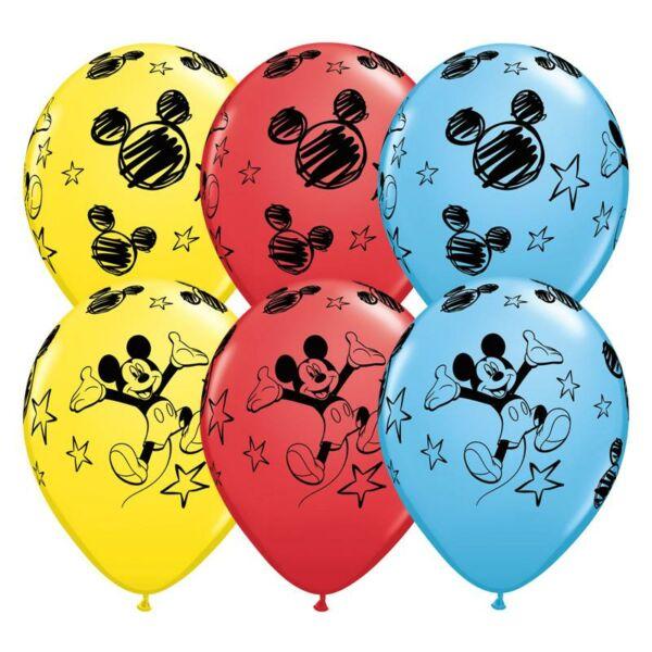 Mickey egér mintás héliumos lufi