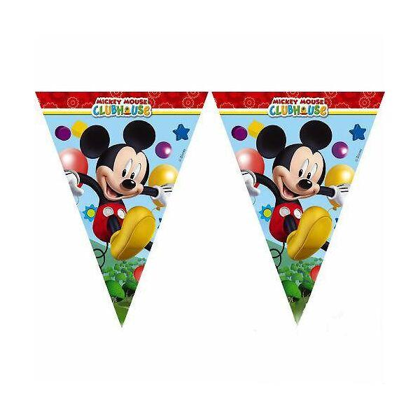 Mickey egér mintás zászlófüzér