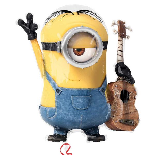 Minion gitárral héliumos lufi