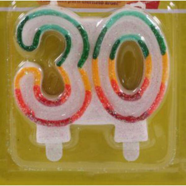 30 szülinapra színes számgyertya