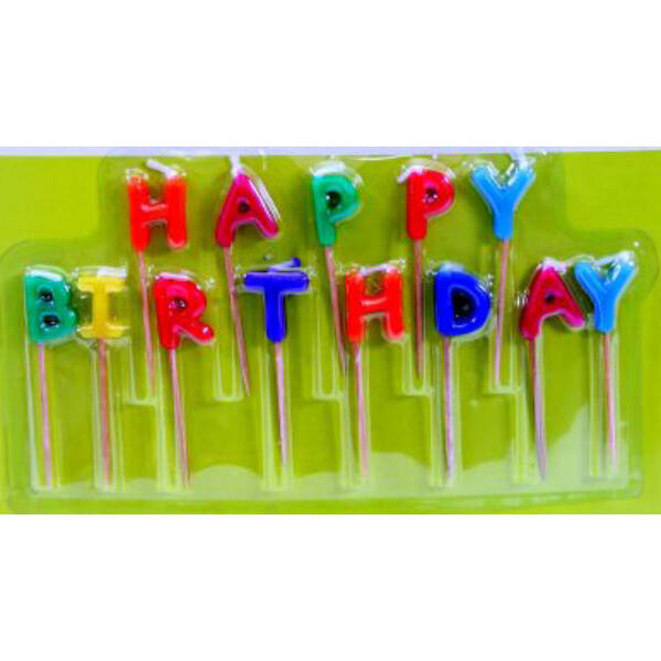 Happy birthday feliratú gyertya
