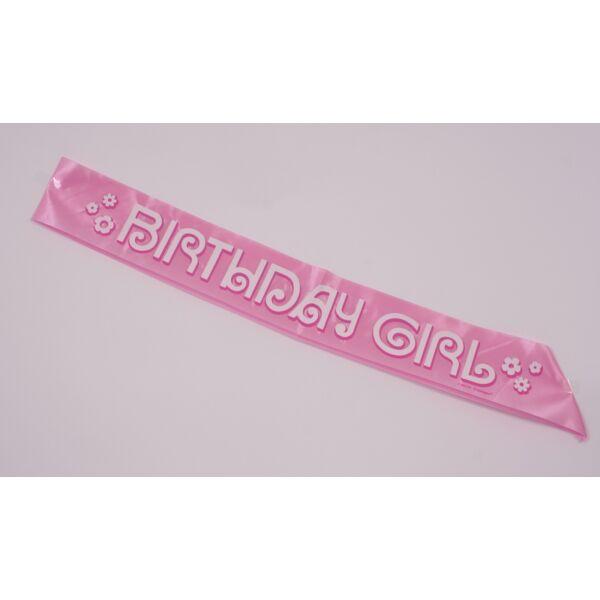 Birthday girl szülinapi vállszalag