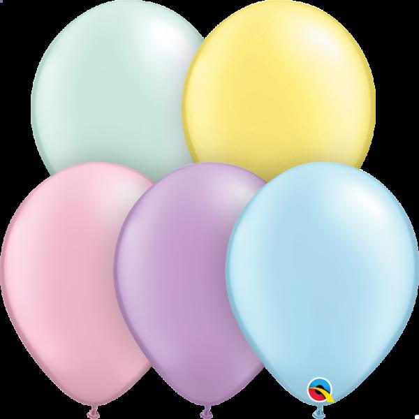 Pasztell gyöngyház színek lufi csomag 25 db