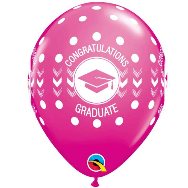 Pink ballagási héliumos lufi