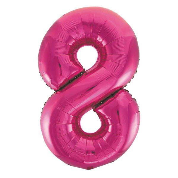 Pink 8 szám fólia héliumos lufi