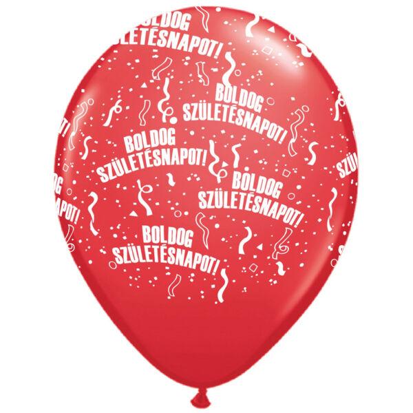 Piros boldog születésnapot héliumos lufi