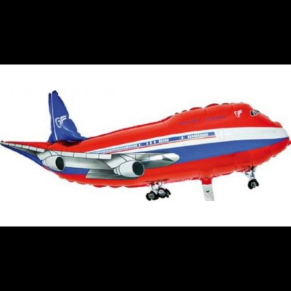 Piros repülőgép héliumos lufi