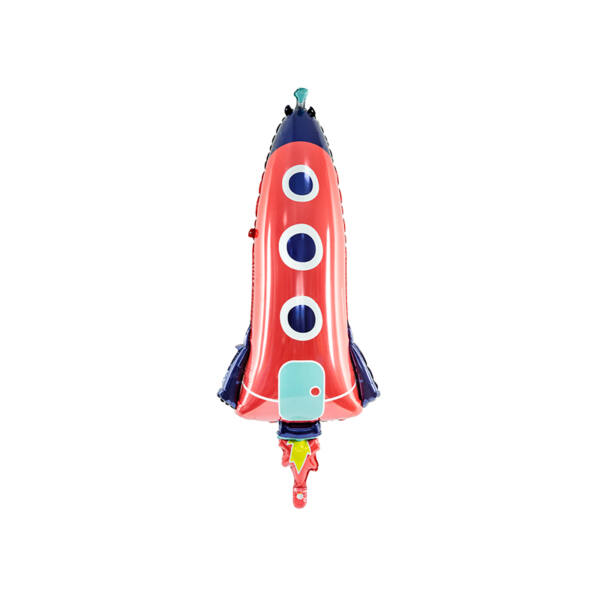 Piros űrhajó héliumos lufi