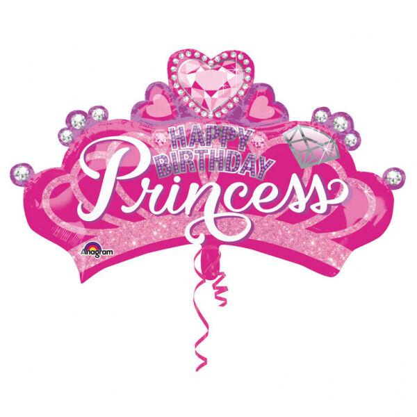 Princess korona szülinapi héliumos lufi