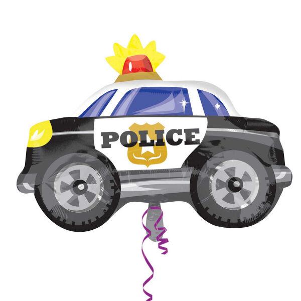 Rendőrautó héliumos lufi