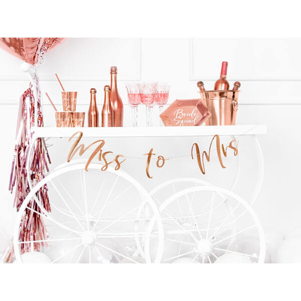 Rose gold miss to mrs felirat