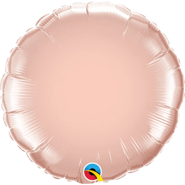 Rose gold kerek fólia héliumos lufi
